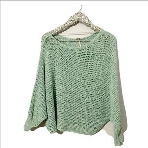 Free People Cable Knit Relaxed Fit Sweater Sz S